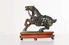 A CHINESE JADE HORSE