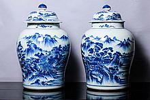 PAIR OF POTS WITH COVER