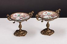 PAIR OF SMALL STEM BOWLS