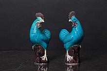 PAIR OF ROOSTERS