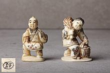 PAIR OF JAPANESE NETSUKE