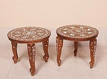 PAIR OF SMALL INDIAN TABLES