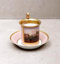 CUP WITH SAUCER EMPIRE