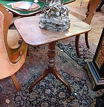 Nineteenth mahogany tilt-top tripod table, on