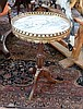 A French style circular occasional table, with