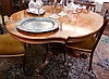 Victorian rosewood veneered loo table, the shaped