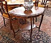 Edwardian mahogany two tiered occasional table, of