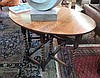 Twentieth century oak gateleg table, on spiral