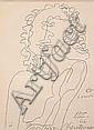 ZADKINE, OSSIP, 1890-1967 Porträtt av Maria