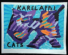 APPEL,  KAREL  ( Dutch 1923-2005  )(portfolio cover) from the Cat's suite,