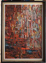 ARTIST UNKNOWN  (  American 20th C.  )(abstract composition)