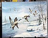 THOMAS,   LINDA  (  American 20th C. (?)  ) (Geese Rising from Winter Pond)