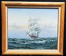 SOPHIA,  W (?)  ( 20th c.  )(Clipper Ship At Sea)