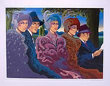 AQUIAR,  OTTO  (    )(Three women, two men)
