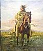 LANDIN,  R. (?)  ( American 20th C. (?)  )(Indian Brave)