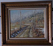 BATTISTINI,  MARIO  (  Italian b. 1930  ) (Road in winter)