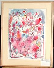 BECKER,       ELISABETH MARIA  (  American, born in France 1942  )(pink daisies)