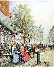BLANCHARD,  ANTOINE,  SCHOOL OF,  SIGNED D'AUGELO,  S. (?)  ( Italian 20th C.  ) (Paris Scene)