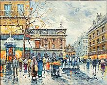 BLANCHARD,  ANTOINE,  SCHOOL OF  ( 20th C.  )(Paris Scene)