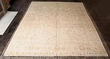 A hand knotted William Morris design carpet