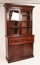 A Victorian mahogany secretaire bookcase