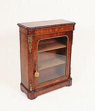 A good Victorian burr walnut pier cabinet