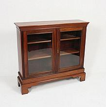 A late Victorian walnut dwarf bookcase