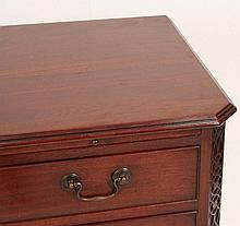 A Chippendale design mahogany gentleman's dressing chest