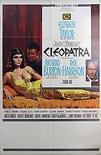 Original Vintage Poster Cleopatra Elizabeth Taylor Richard Burton