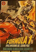Original Vintage Poster Grand Prix - Formula 1
