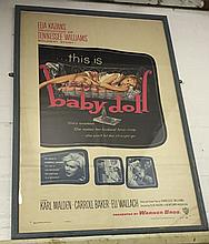 Framed Original Vintage Film Poster - Baby Doll (U.S One Sheet)