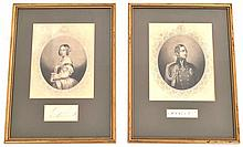 A Pair Of 19th Century Stiple Engravings Of Queen Victoria And Albert