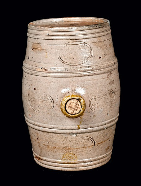 Rare Stoneware Rundlet Impressed