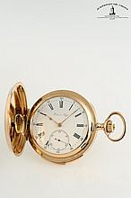 A collection of 2 gold hunting case pocket watches with repeater