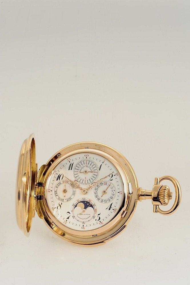 A. Lange & Söhne Glashütte B/Dresden, Movement No. 62507, Case No. 62507, 57 mm, 182 g, circa 1911