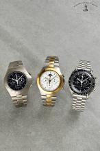 A collection of three rare Omega wristwatches