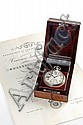 Lot of an observatory chronometer, pocket watches and pocket watch movements of high interest