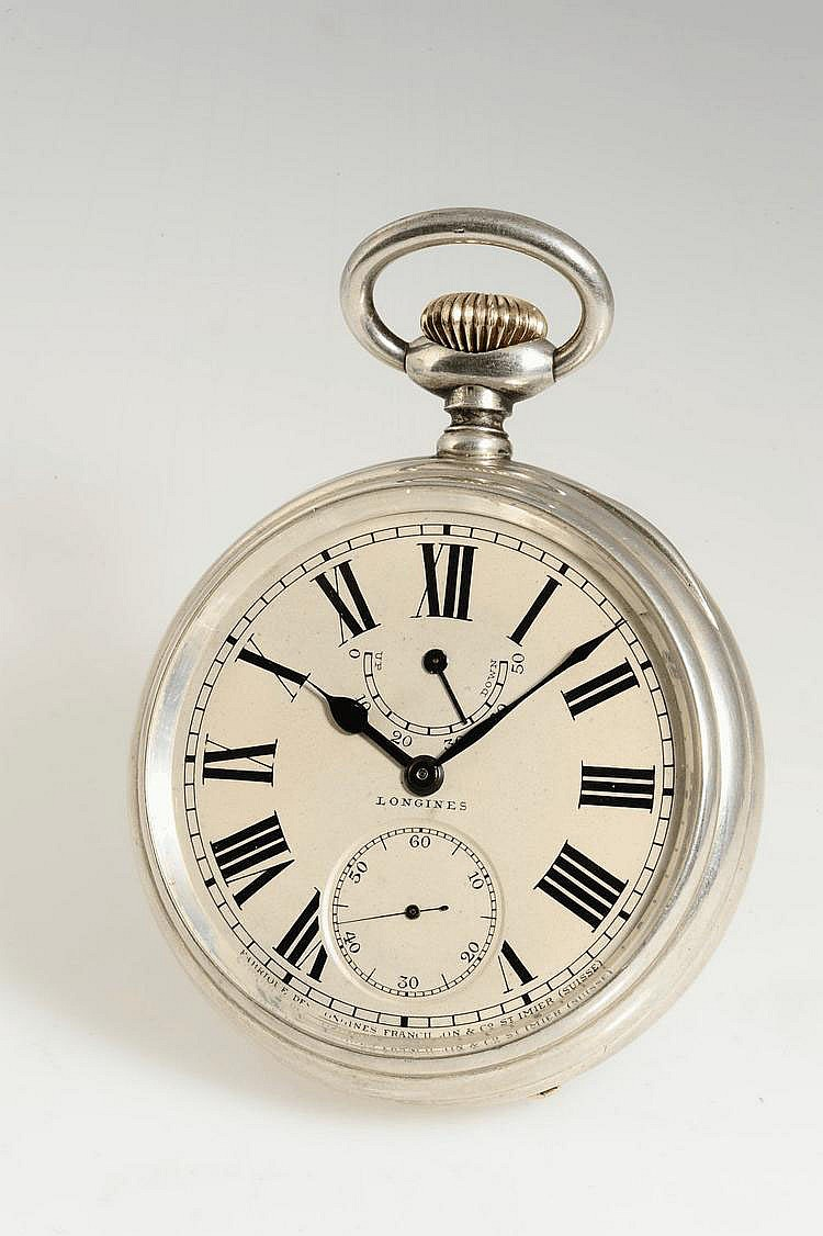 Longines, Movement No. 1927920, Case No. 1927920, Cal. 24.99, 67 mm, 246 g, circa 1909