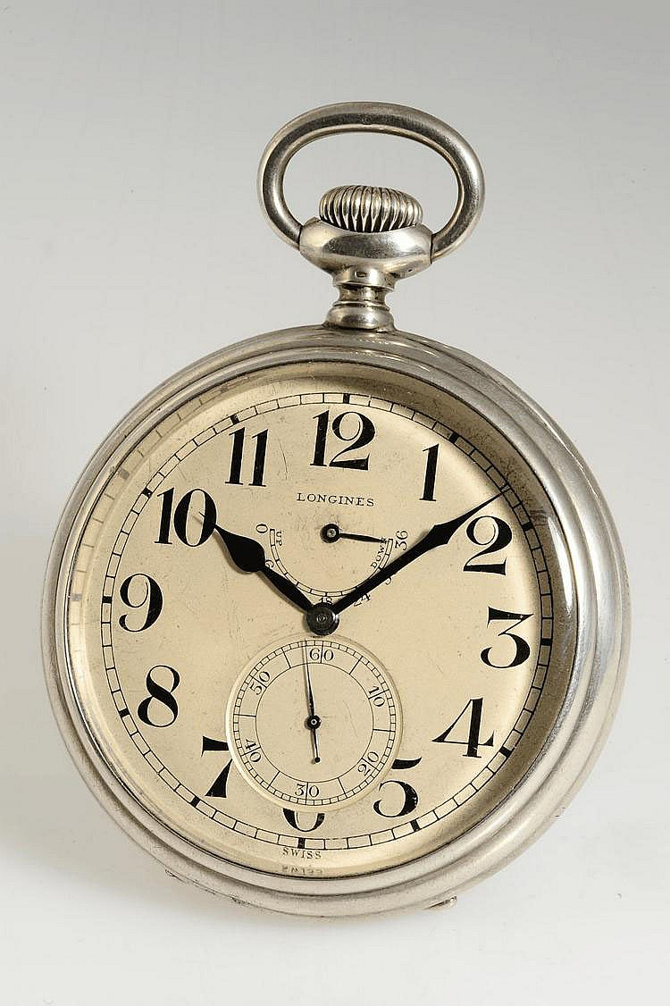Longines Watch Co., Swiss, Movement No. 2978065, Case No. 2978065, Cal. 21.29, 68 mm, 213 g, circa 1912