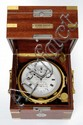 An as new, extremely rare ship's chronometer with 8 day movement and power reserve indication, mahogany transport box