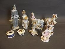 A quantity of Lladro figures etc, 8½