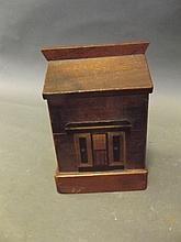 A late C19th/early C20th treen money box in the