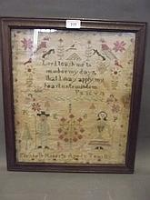 A mid C19th sampler by Elizabeth Roberts, 11