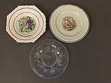 Two C19th Staffordshire pottery plates 'Robinson