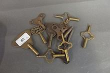 Ten various watch keys