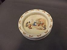 A Bunnykins bowl, marked Royal Doulton, 7½