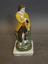 An early pearlware Staffordshire figure of a man