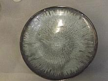 An Art Pottery bowl with grey glazed decoration,