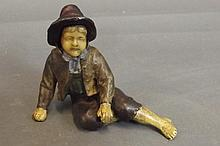 An early C20th cold painted bronze figure of a