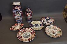 A C19th Japanese Imari square form vase decorated